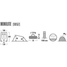 High Peak Minilite Tente, blue/grey